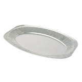 Oval Silver Embossed Foil Food Platter 14""