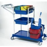 Kit Cart + Double Mopping System cleaners
