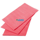 Catering Supplies Viscose Wipes Red