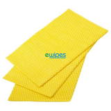 Catering Supplies Viscose Wipes Yellow