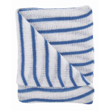 Stockinette Striped Dish Cloths- Blue Quantity: 10