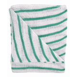 Stockinette Striped Dish Cloths- Green Quantity: 10