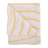 Stockinette Striped Dish Cloths- Yellow Quantity: 10