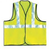 Vest High Visibility 1 Band Certified EN Large