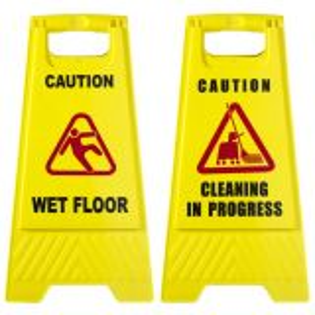 Floor Sign CAUTION WET FLOOR CLEANING in PROGRESS