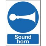 Sign/Rigid Sound Horn 400x300mm