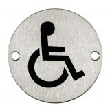 Signage Stainless Steel Disabled