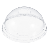 Solo DLR685 Ultra Clear Domed Lid With Hole 7oz