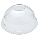 Compostable Clear PLA No Hole Domed Lid 12oz