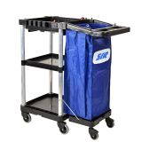 Spacesaver Janitorial Trolley Without Cut Out Cart