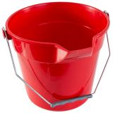 Lipped Round Bucket 10 Litre Red