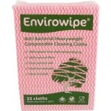 Natural Anti-bacterial Compostable Cloths Red