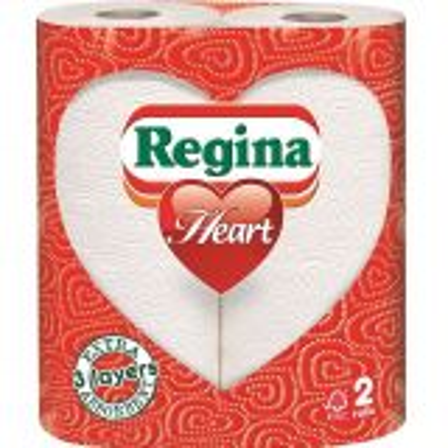 Regina Heart Kitchen Towels 3ply White