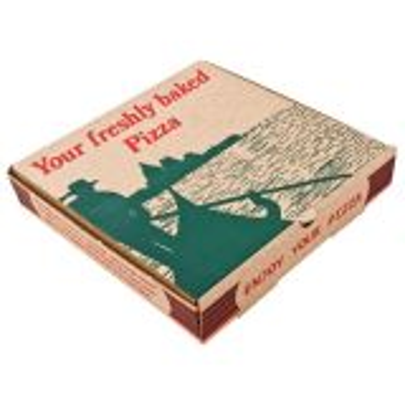 "Gondola Kraft Pizza Box 14"""