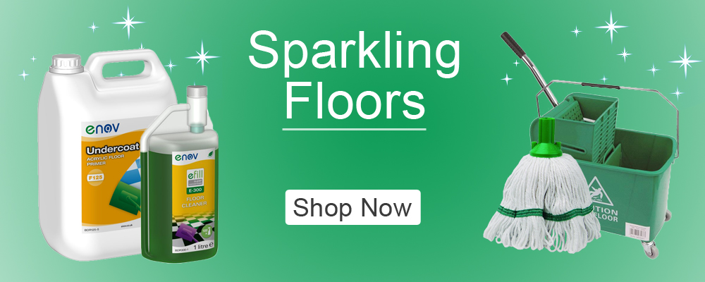 Catering supplies floor cleaning range banner